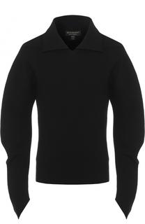 Джемпер из шерсти тонкой вязки с объемными рукавами Burberry