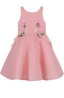 Платье с пюшной юбкой и аппликациями David Charles