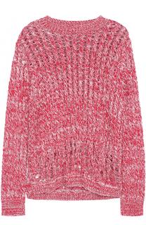 Пуловер фактурной вязки с круглым вырезом Joseph