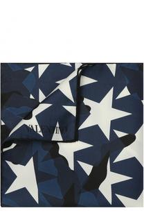 Шелковый платок с камуфляжным принтом Valentino