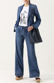 Джинсовый брючный костюм с потертостями Equipment