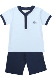 Хлопковый комплект из футболки и шорт Kissy Kissy