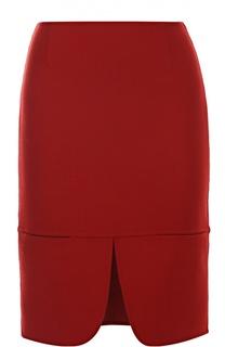 Мини-юбка с разрезом спереди DKNY