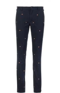 Зауженные брюки с вышивкой Polo Ralph Lauren