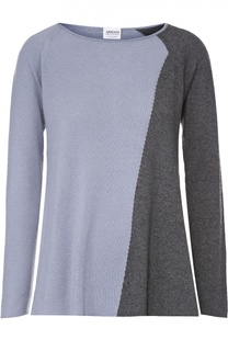 Кашемировый пуловер прямого кроя с круглым вырезом Armani Collezioni