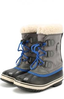 Комбинированные сапоги на шнуровке Sorel