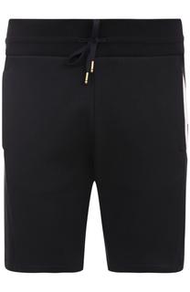 Хлопковые шорты свободного кроя с контрастной отделкой Moncler