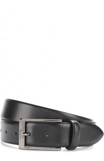 Кожаный ремень с металлической пряжкой HUGO