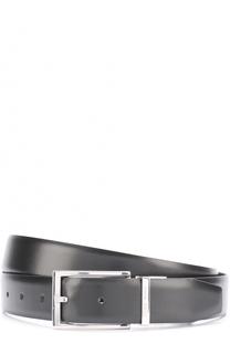 Кожаный ремень с металлической пряжкой BOSS