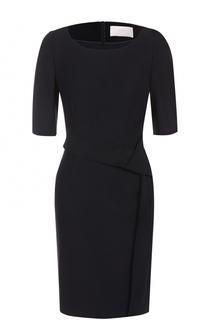 Приталенное мини-платье с коротким рукавом BOSS