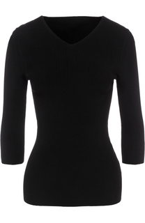 Пуловер с V-образным вырезом и укороченным рукавом Alaia
