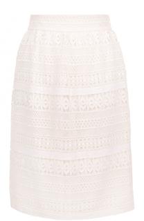 Кружевная юбка прямого кроя Burberry