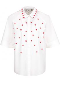 Шелковая блуза свободного кроя с декоративной отделкой Paul&Joe Paul&Joe