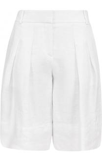 Мини-шорты с защипами и карманами BOSS