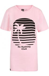 Удлиненная футболка с контрастным принтом Dedicated