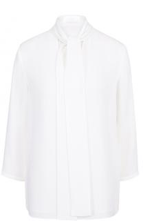 Блуза с укороченным рукавом и воротником аскот BOSS