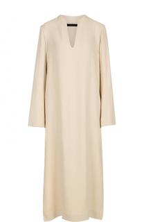 Платье с разрезами и V-образным вырезом The Row