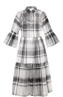 Полупрозрачное платье-рубашка в клетку sara roka