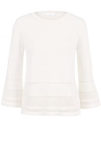 Пуловер с укороченными рукавами и перфорацией BOSS