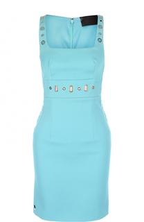 Облегающее мини-платье с квадратным вырезом Philipp Plein