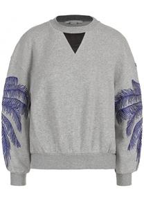 Свитшот свободного кроя с вышивкой Stella McCartney