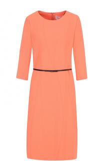 Мини-платье с короткими рукавами и поясом BOSS