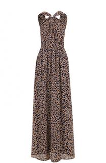 Платье-макси с леопардовым принтом и открытой спиной MICHAEL Michael Kors