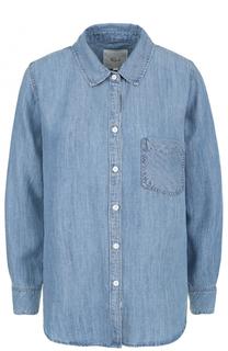 Джинсовая блуза прямого кроя с накладным карманом Rails