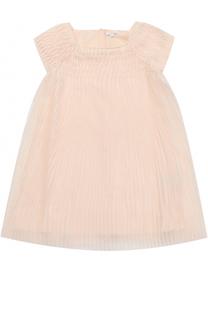 Платье свободного кроя с плиссировкой Chloé