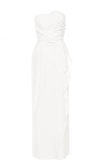 Платье-бюстье с оборками Armani Collezioni