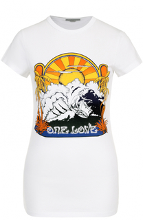 Хлопковая футболка с ярким принтом Stella McCartney