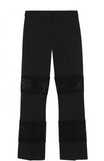 Укороченные брюки с кружевными вставками Alexander McQueen