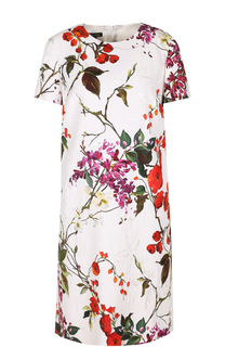 Платье прямого кроя с цветочным принтом Escada