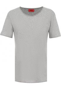 Хлопковая футболка свободного кроя с круглым вырезом HUGO