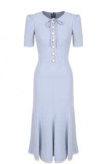 Шелковое приталенное платье Dolce & Gabbana
