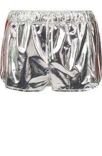 Мини-шорты с металлизированной отделкой Moncler