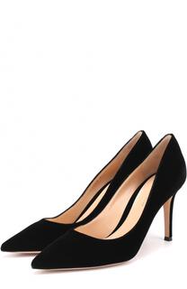 Бархатные туфли Gianvito 85 на шпильке Gianvito Rossi