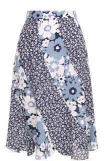 Шелковая юбка-миди с цветочным принтом Michael Kors
