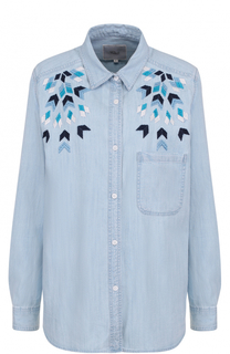 Джинсовая блуза прямого кроя с вышивкой Rails
