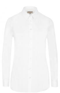 Приталенная хлопковая блуза Burberry
