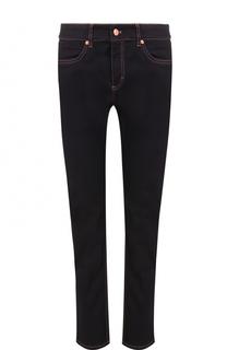 Укороченные джинсы-скинни с контрастной прострочкой Escada Sport