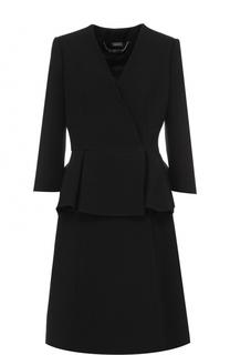 Пальто с укороченным рукавом и баской Alexander McQueen