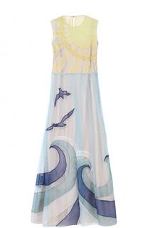 Приталенное платье-миди с отделкой REDVALENTINO