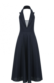 Приталенное платье с открытой спиной Tegin