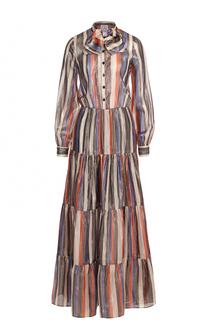 Платье-рубашка в полоску с воротником аскот Stella Jean