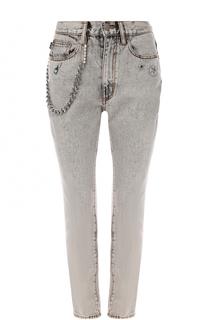 Укороченные джинсы с декоративной отделкой Marc Jacobs