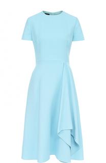 Приталенное платье-миди с драпировкой Escada