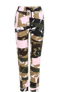 Укороченные брюки с принтом и эластичным поясом Kenzo