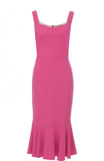 Приталенное платье с юбкой-годе Dolce & Gabbana
