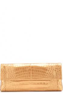 Клатч из металлизированной кожи каймана Nancy Gonzalez